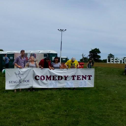 comedy banner leestock