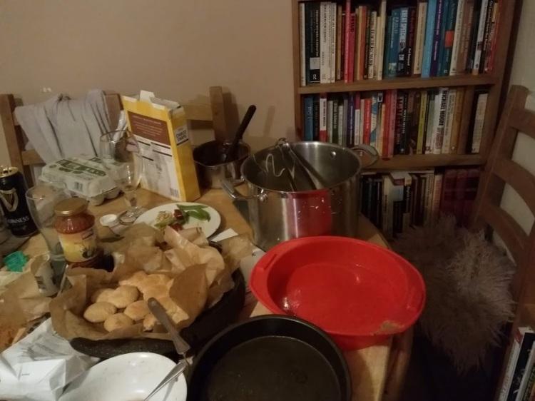messy kitchen