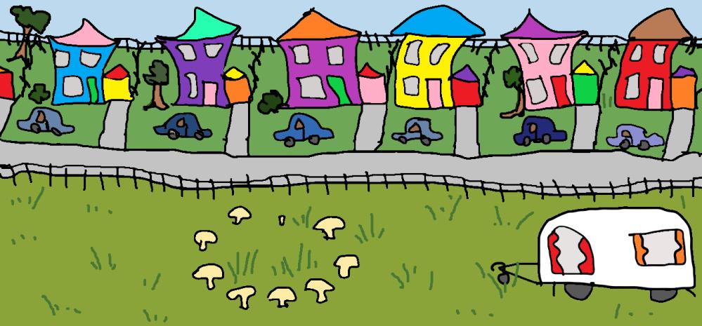 houses like dresses